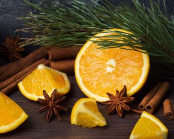 Апельсин, анис, гвоздика и корица